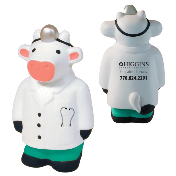 Squeezies (r) - Doctor Cow Character Cow Shape Stress Reliever Photo