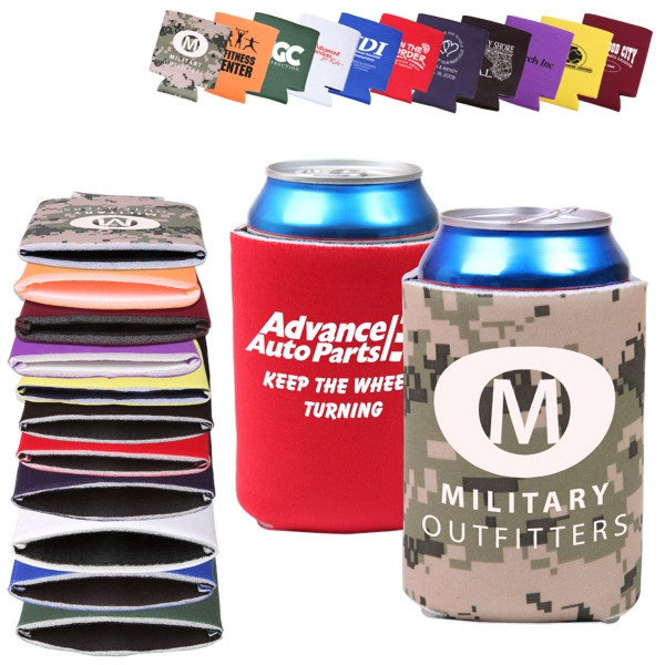 Folding, Collapsible Can Cooler Sleeve Photo