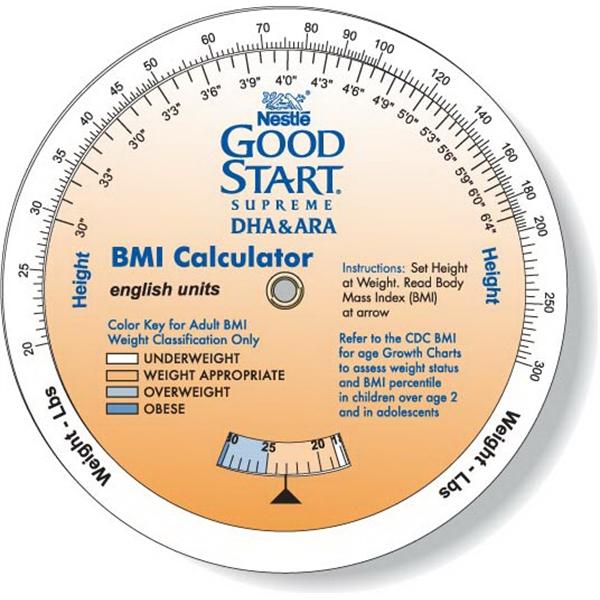 3 Wheel Body Mass Index Calculator. Children & Adult