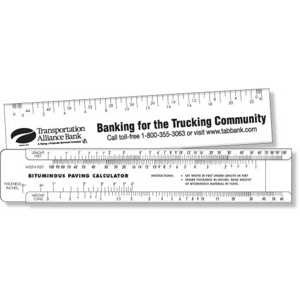 Stock Plastic Paving Slide Calculator Spot Color Imprint
