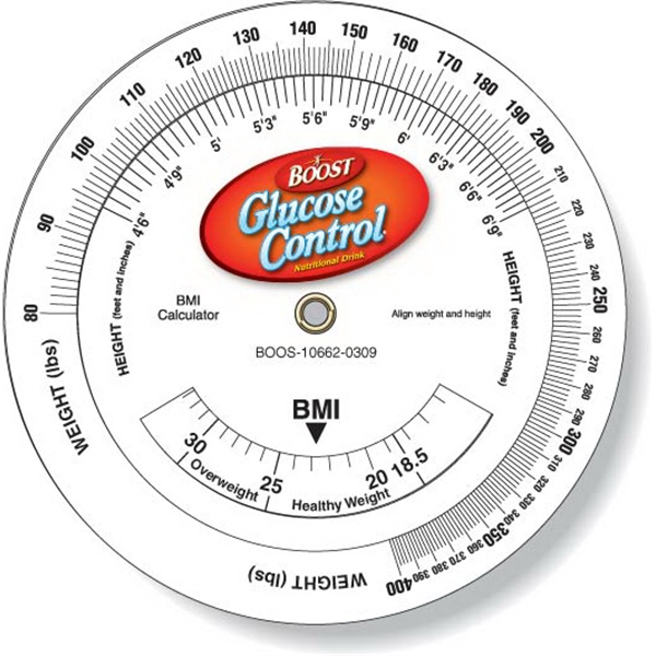 Wheel Calculator Body Mass Index (BMI) Full Color 4.25