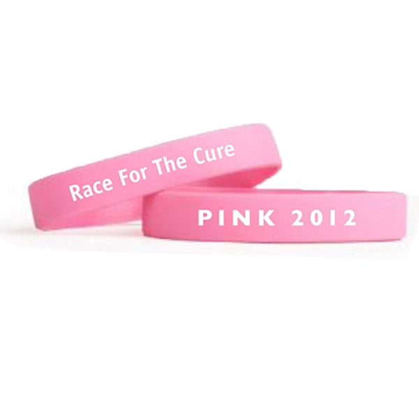 "1/2"" Quick-turn Silk Screened Silicone Wristbands Photo"