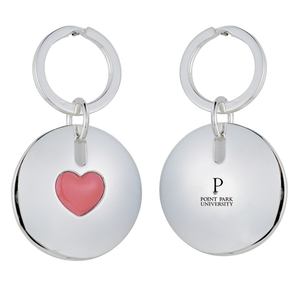 Silver Plated Heart Keychain. Closeout Photo