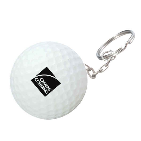 Golf Ball Stress Reliever Key Chain Photo