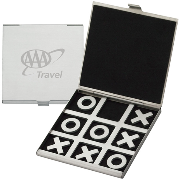 Executive Series - Tic Tac Toe Brushed Aluminum Travel Game Photo