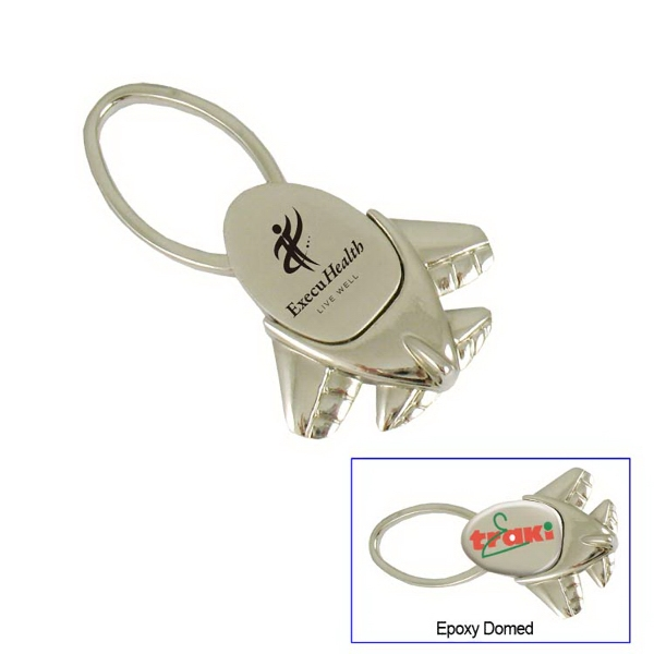 Mini Jet Metal Key Tag