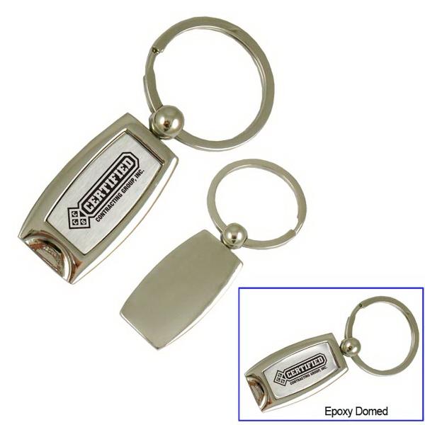 Curved Metal Key Tag