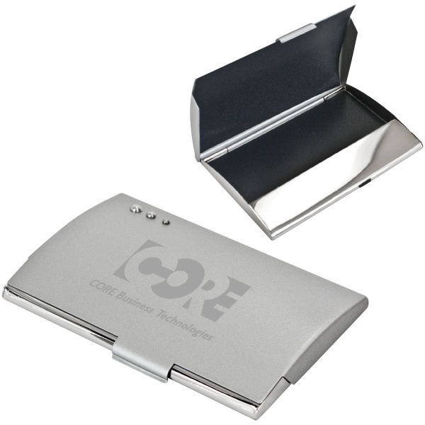 Curve - Business Card Holder. Nickel Plated Finish With Chrome Accents Photo