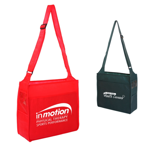 Durable, Spacious Open Trade Show Tote With Large Front Pocket Photo