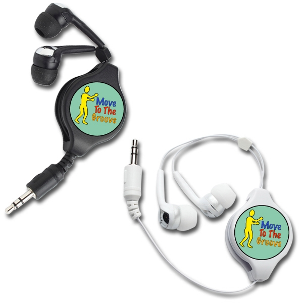 Soundtastic - Earbuds. Retractable. Extends Up To 3 1/2 Feet Photo