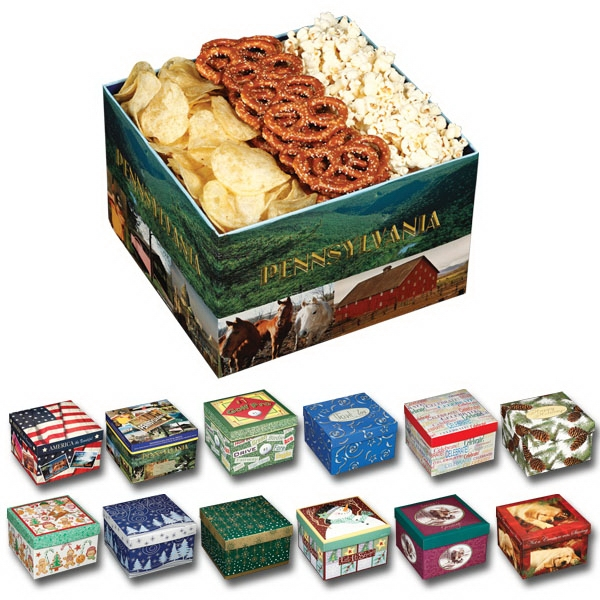 Utz(r) Snack On - Variety Gift Box With Kettle Classic Chips, Pretzels And White Cheddar Popcorn Photo