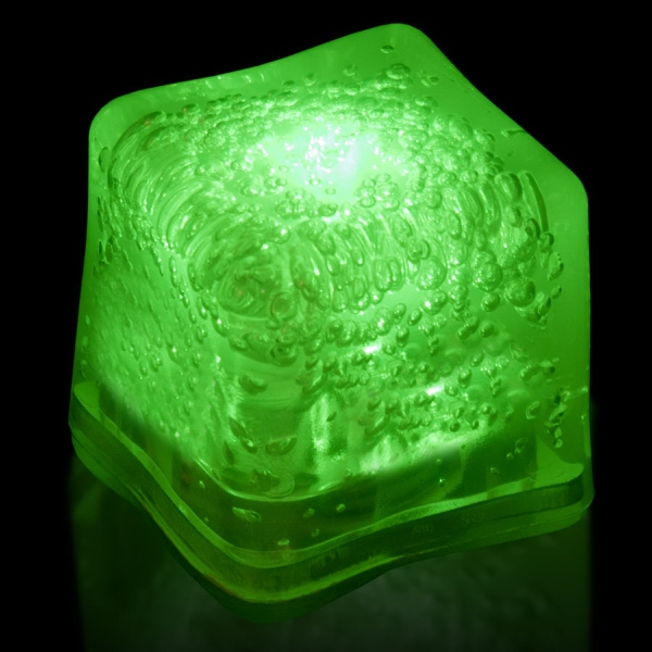 Green Light Up Premium LitedIce Brand Ice Cube, Blank
