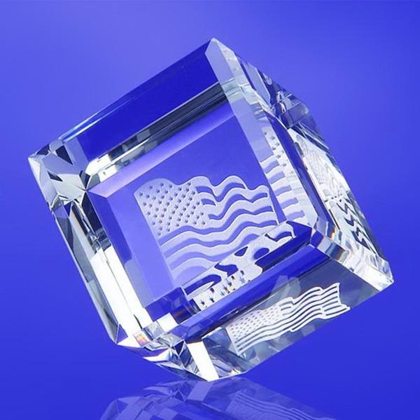 """Award-Standing Cube 2""""w x 2""""h x 2""""d"""
