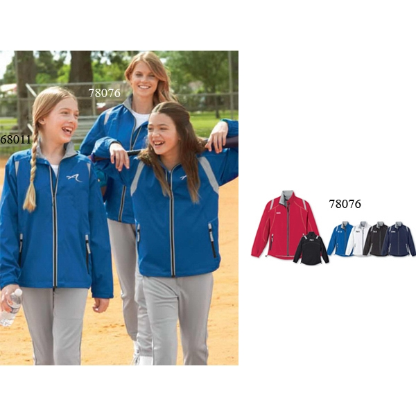 North End (r) -  X S- X L - Ladies' Lightweight Color-block Jacket Photo
