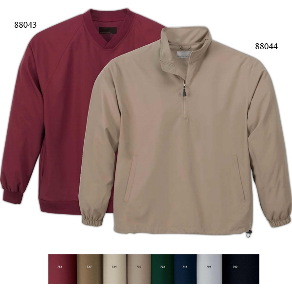M.i.c.r.o. Plus North End (r) - S- X L - Men's Half-zip Windshirt With Teflon (r) And Stand Collar And Inner Placket Photo