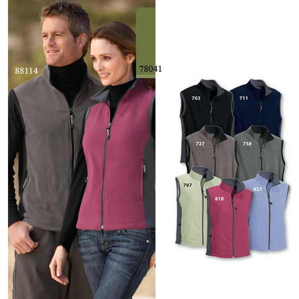 North End (r) - S- X L - Men's Microfleece Vest With Contrast Side Panels Photo