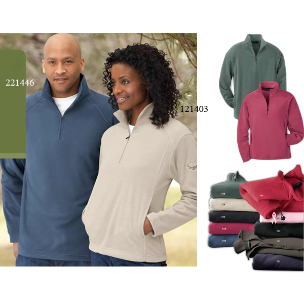 North End (r) - S- X L - Men's Microfleece Half Zip Jacket With Side Seam Pockets Photo