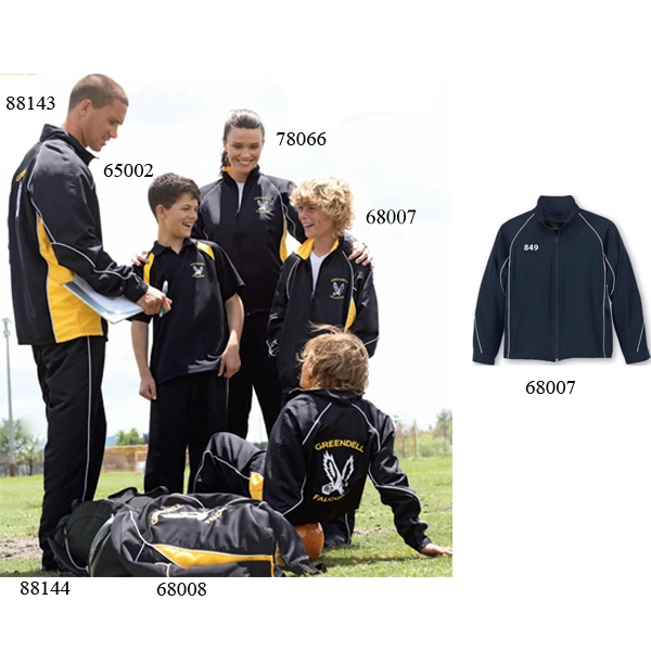 North End (r) - Youth Woven Twill Athletic Jacket With Raglan Sleeves Photo