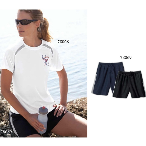 North End (r) - 2 X L - Ladies' Polyester Athletic Shorts With On-seam Front Pockets Photo