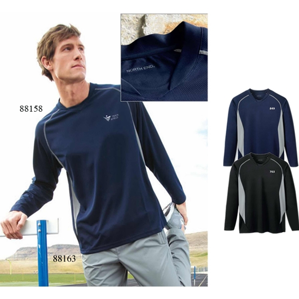 North End (r) - S- X L - Men's Athletic Long Sleeve Sport Top Photo