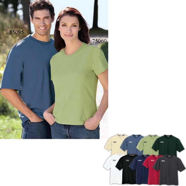 Extreme Eperformance (tm) -  X S- X L - Ladies' Polyester Crew Neck T-shirt, Antimicrobial And Moisture Wicking Finish Photo