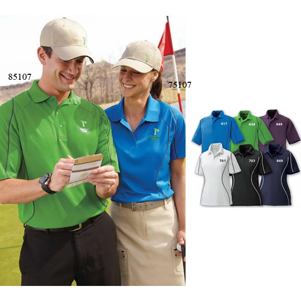 Velocity Extreme Eperformance (tm) - 3 X L - Men's Snag Protection Color-block Polo With Piping Photo
