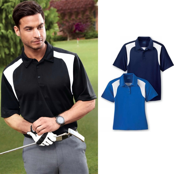 Extreme Eperformance (tm) - 3 X L - Men's Color-block Textured Polo Photo