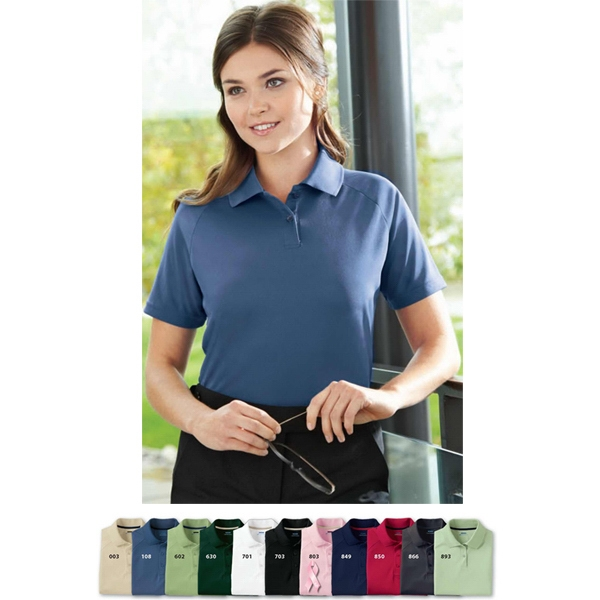 Extreme Eperformance (tm) - 3 X L - Ladies' Polyester Pique Polo With Matching Flat Knit Collar Photo