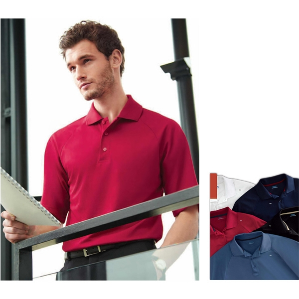 Extreme Eperformance (tm) - S- X L - Men's Polyester Pique Polo With Matching Flat Knit Collar Photo