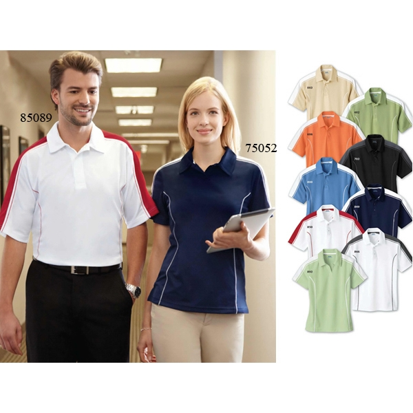 Extreme Eperformance (tm) - 3 X L - Ladies' Pique Color-block Polo Shirt With Self-fabric Collar Photo