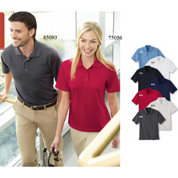 Extreme Eperformance (tm) -  X S- X L - Ladies' Ottoman Textured Polo Shirt Photo