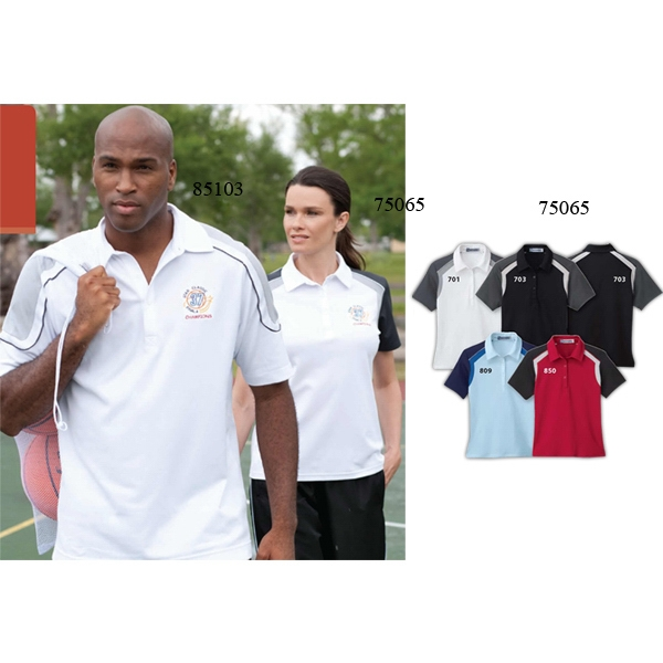 Extreme Edry (r) -  X S- X L - Ladies' Color-block Polo Photo