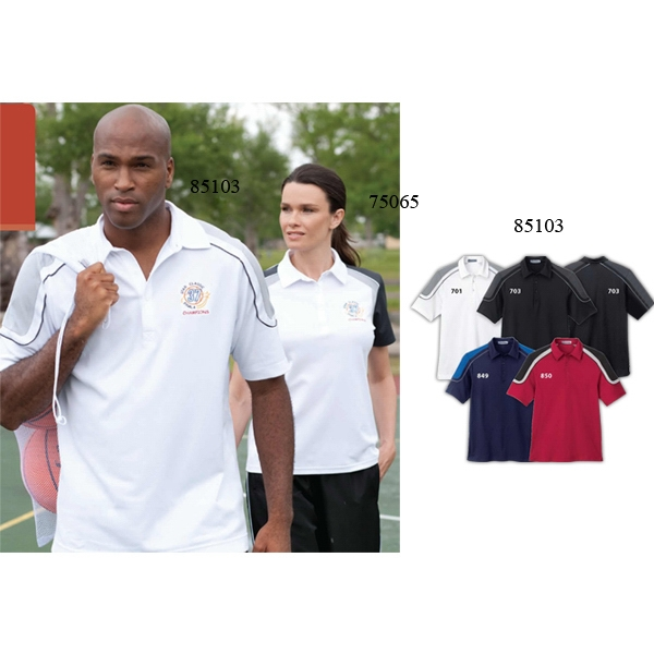 Extreme Edry (r) - 3 X L-4 X L - Men's Color-block Polo With Side Slits Photo