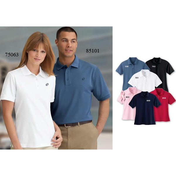 Extreme Edry (r) -  X S- X L - Ladies' Double Knit Polo With Cotton Blend Double Knit Fabric Photo