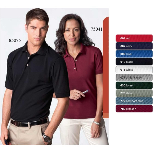 2 X L - Ladies' Extreme Short Sleeve Pique Polo With Teflon (r) Photo