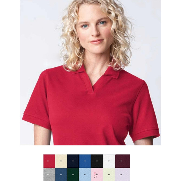 2 X L - Ladies' Extreme Cotton Blend Pique Polo Photo