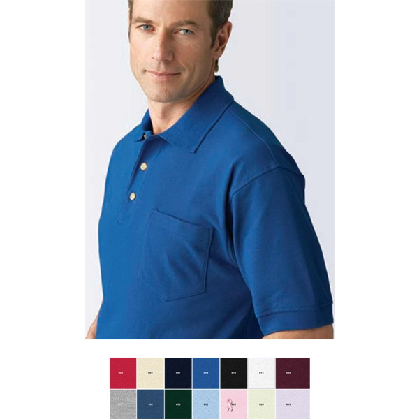 2 X L - Men's Extreme Cotton Blend Pique Polo With Pocket Photo
