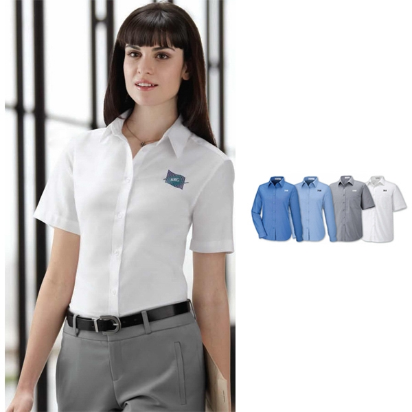 North End (r) Maldon - 2 X L - Ladies' Short Sleeve Oxford Shirt With Spread Collar Photo