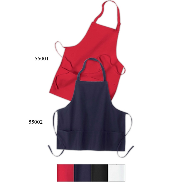 North End (r) - Adjustable Full Length Bib Apron With Two Front Pouch Pockets Photo