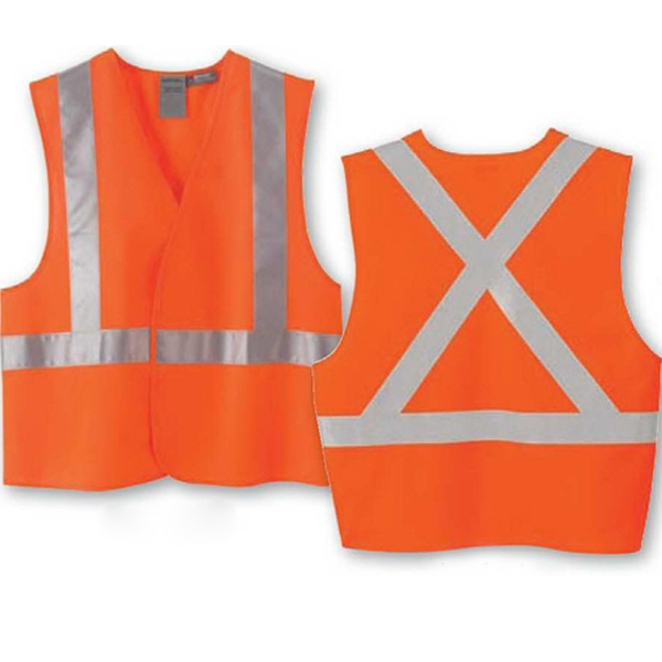 North End (r) - S/m - L/ X L - Safety Vest With  X  Pattern On Back Photo