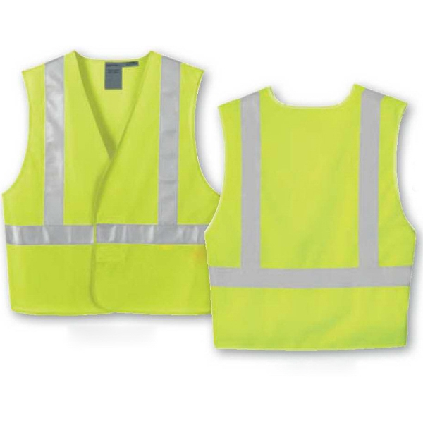North End (r) - S/m - L/ X L - Men's Vertical Stripe Safety Vest Photo