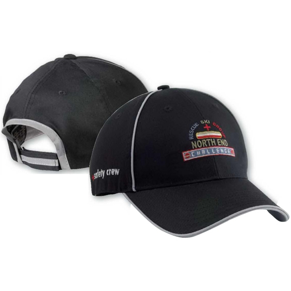 North End (r) - Chino Twill Sandwich Cap With Reflective Trim Photo