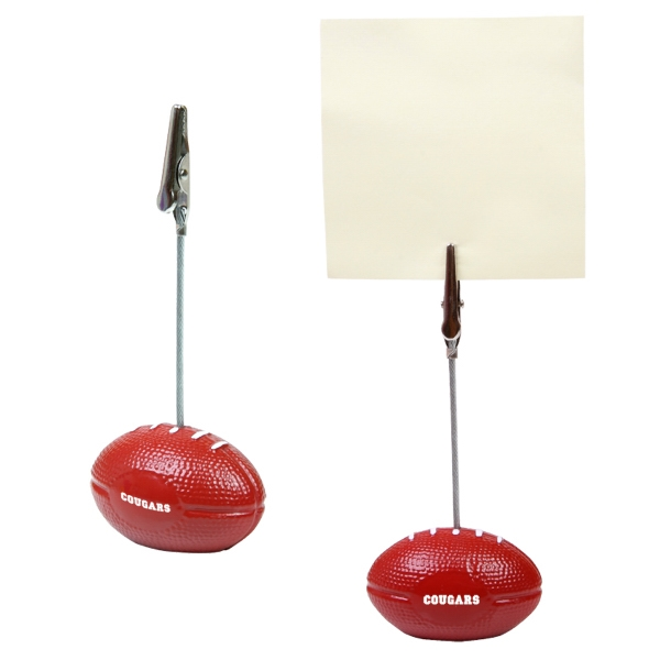 Football - Memo Holder With Clip Photo