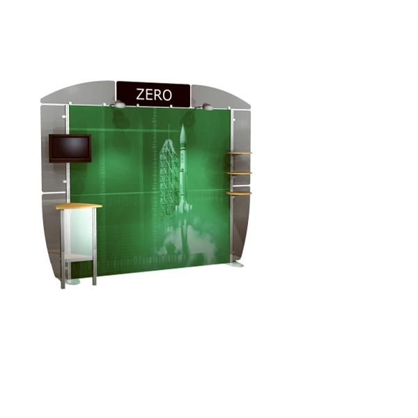 10 foot Alumalite Zero - 10' hybrid system with Aluminum frame and wheeled shipping case.