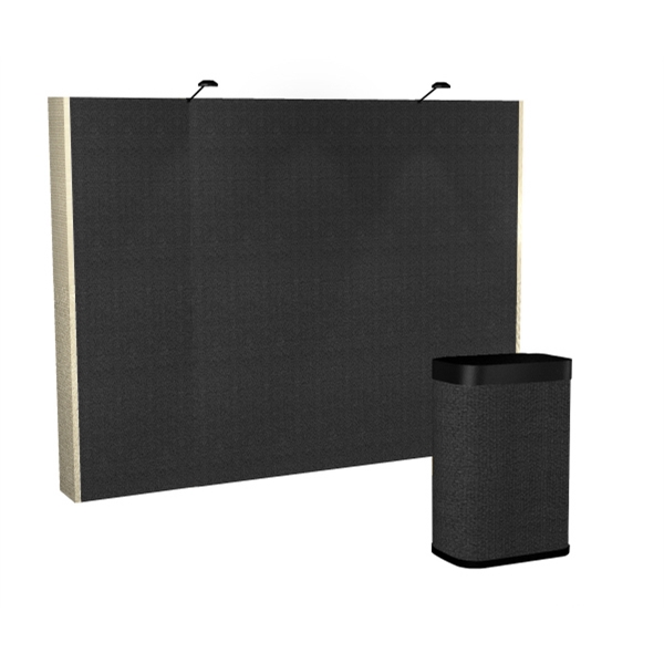 All Fabric Kit (10 ft) - Pop-up display with a straight 10 ft. frame and 6-fabric panels.