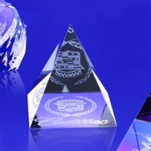 """Award-Pyramid Paperweight 2-5/8""""h"""