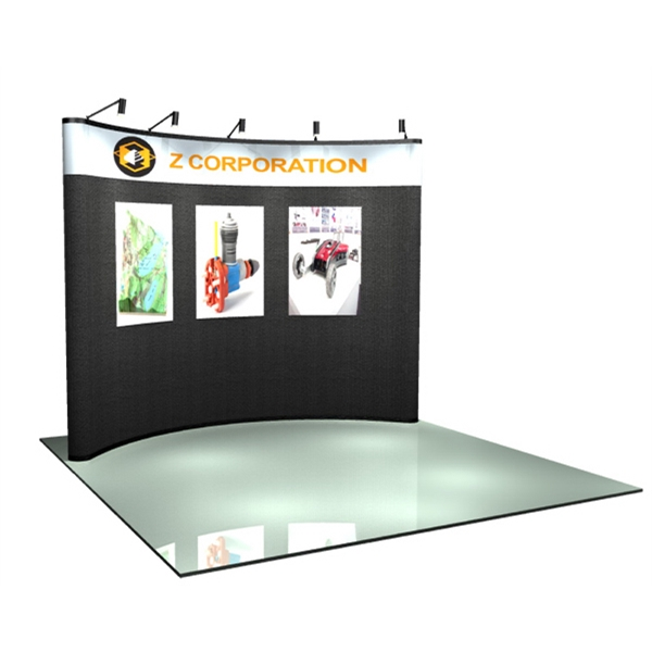 Fabric / Graphic Kit (10 ft) - Pop-up display with a  curved 10 ft. frame and 6-fabric panels.