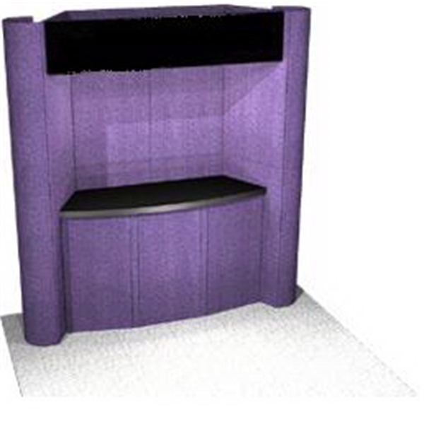 Fabric Panel Display System - Fabric 8 ft. panel system includes back-wall and 5-PCC top loading case.