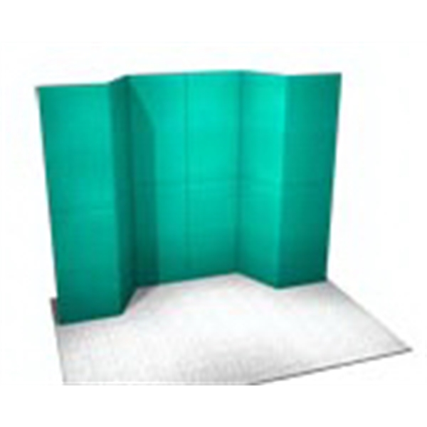 Fabric Panel Display System - Fabric 10 ft. panel system includes back-wall and 5-PCC top loading case.