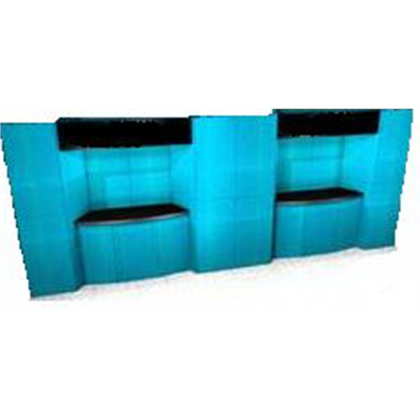 Fabric Panel Display System - Fabric 20ft. display panel system, back wall, alcove counter, plex header, case.